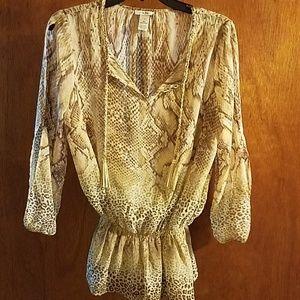 Cach'e beautiful animal print blouse